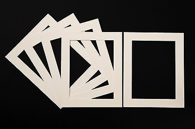 Ivory/Cream Photo/Picture Mounts - Available in Packs of 5, 10 and 20