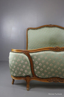 Vintage Antique Style Upholstered French Bed