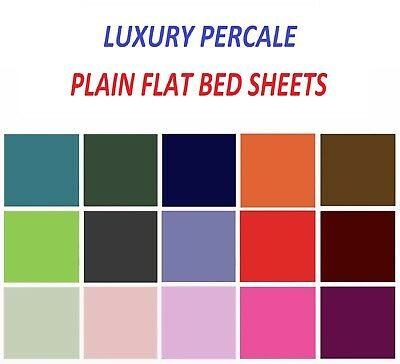 Luxury Plain Flat Bed Sheets Best Quality Single Double King Size