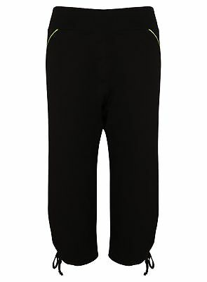 Ex M&S Ladies Women's Capri Cropped Trousers Running Fitness Yoga Breathable 3/4
