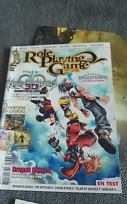 Magazine ROLE PLAYING GAME 36  - 3 posters - Kingdom hearts 3d