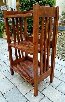 Vintage Mission Arts & Crafts Style wood Bookshelf Bookcase Display case Shelf