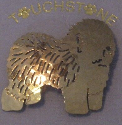 Old English Sheepdog, A Pin/Brooch by Touchstone Jewelry