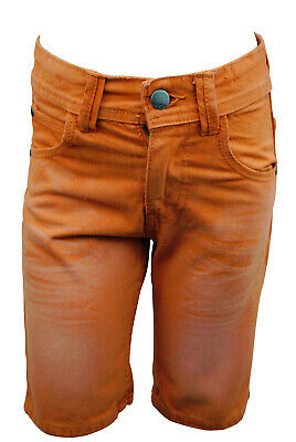 Boys Ex Matalan Jeans Denim Cotton Shorts Orange Size Age 5 to 13 Years Kids