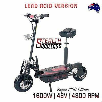New Stealth Rogue 1600 48v 12Ah Lead Acid Adults/Kids foldable Electric Scooter