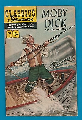 Classics Illustrated Comic 1965  Moby Dick # 5.  special  #766