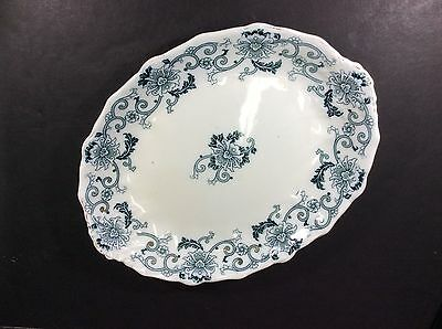 "Beautiful Antique J & G Meakin England Porcelain 14"" Oval Platter"