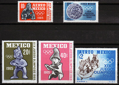 Mexico 1192-96 **, Olympiade Sommer 1968