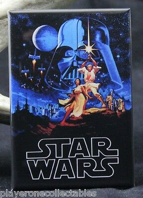 "Star Wars 2"" X 3"" Fridge / Locker Magnet. Luke Skywalker Leia"