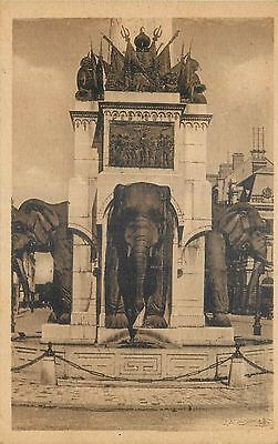 Cp Chambery Fontaine Des Elephants