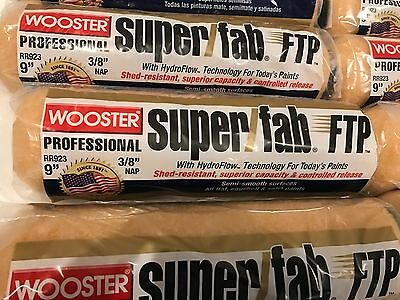 """12 PACK**Wooster PAINT RR923 Super Fab FTP 9"""" Roller Cover, 3/8-Inch Nap"""