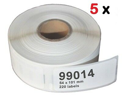 5 Pack 99014 Address Label 54x101 Compatible Dymo LabelWriter 400 450 Turbo Duo