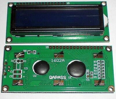 New 1602 16x2 Character LCD Display Module HD44780 Controller blue blacklight UK