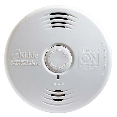6 Pack Kidde WorryFree 10 Year Battery Combination Smoke and CO Alarm with Voice