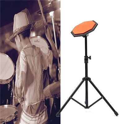 Rubber Dumb Drum Practice Pads Set with Stand 8'' 21cm NEW FREE SHIPPING