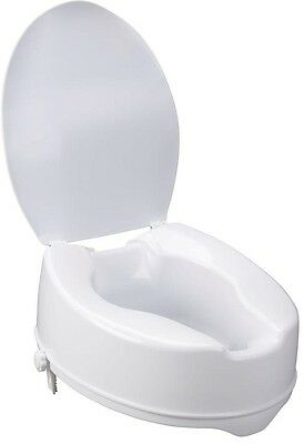 Drive Raised Toilet Seat with Lock and Lid