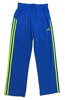 Adidas Boy's Core Athletic Track Pants Blue/Yellow