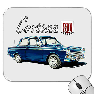 1962 - 1966  Ford  Cortina  Mk1  Gt   Mouse Pad  ( 5 Car  Colours )