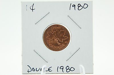 Canada 1 Cent Penny Collection - 1980 Mint State Die Deterioration - Double 1980