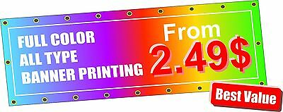 Vinyl Banner printing 13oz  Best quality Fast Printing Best Price  FREE SHIPPING