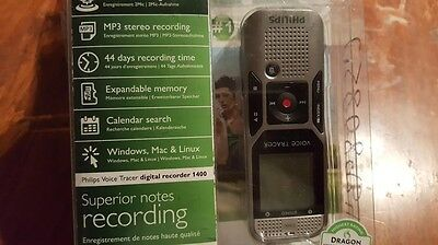 Philips DVT1400/00 Voice Tracer Digital Recorder with 2 Mic Stereo Recording