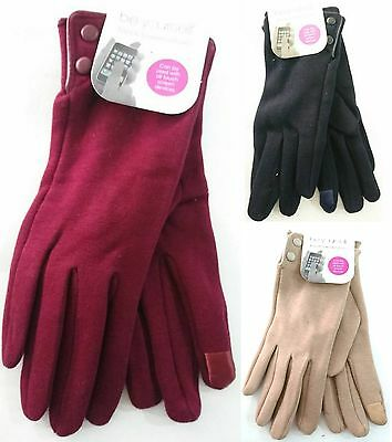 New Ladys' Fashion Gloves w 2 Button Closure w Touch Phone Pad Winter Gloves