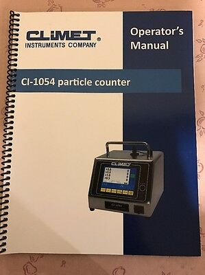 CLIMET CI-1054 Laser Particle Counter Operations Manual