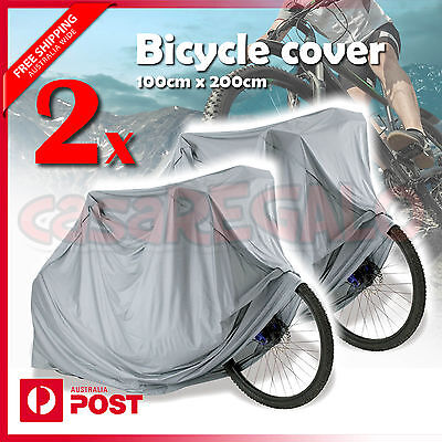 2xWaterproof Rain Dust Cover Outdoor Protector Bike Bicycle Cycling UV Resistant