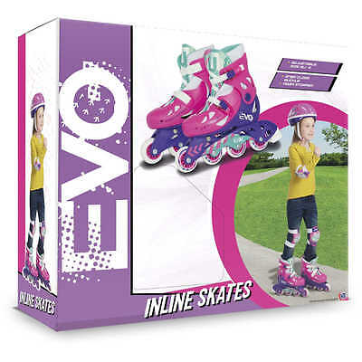 Evo Inline Adjustable Skates For Girls - Size 13J - 3 - BARGAIN