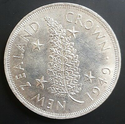1949 New Zealand Silver Crown. . aUNC..