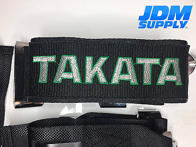 Takata Green 4 Point Camlock Quick Release Racing a Seat Belt Harness