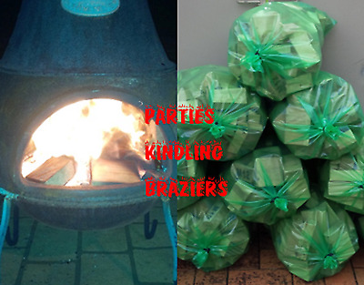 Quality 10kg Party Firewood/Kindling - For lighting your Hardwood, Braziers etc