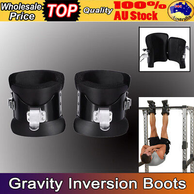 Gravity Inversion Boots Upside Down Hang Spine Posture Physio Gym Fitness AU