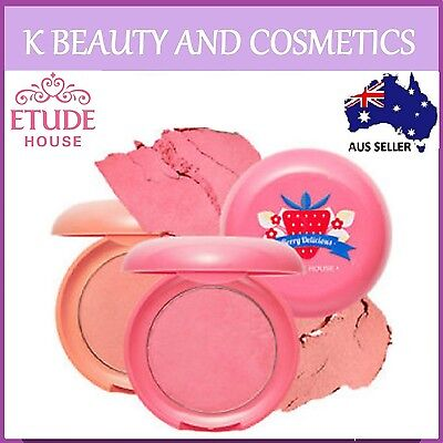 [Etude House] Berry Delicious Cream Blusher 5 Colours to Choose Strawberry Blush