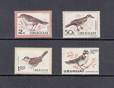 BIRDS - Uruguay  - 1963  set of 4- (SC 695-8)- MNH-A722