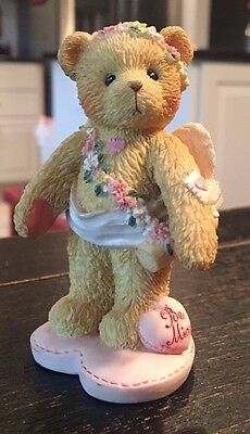 """Cherished Teddies: Love """"Be Mine""""  ~ Girl Standing with Bow and Arrow"""