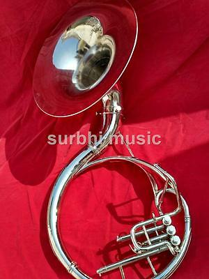 """Sousaphone 22"""" Bell Made of Brass in Chrome Polish With Case + MouthPc+ Shipping"""