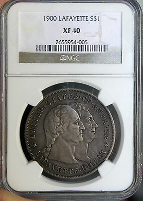 #~☆AWESOME☆~ 1900 Lafayette Silver Dollar Commemortive NGC XF-40.  Great price