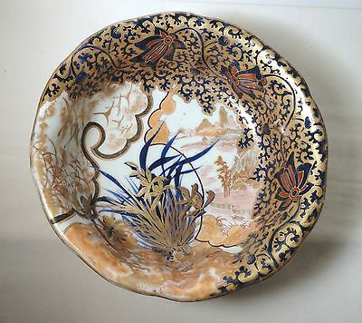 Japanese Japan Meiji Period Porcelain Imari Gold Dragon Bats Art Pottery Bowl