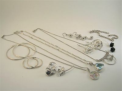 Sterling Silver lot of 10 pieces of Jewelry no Scrap