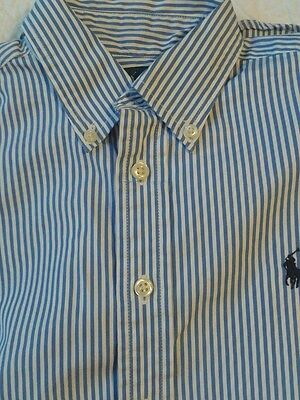 Boys Ralph Lauren long sleeve shirt  fresh blue stripe age 10