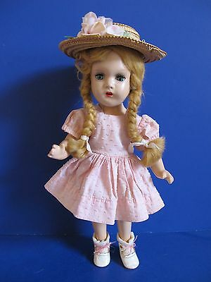 """SWEET! Madame Alexander McGuffey Ana, 1937 Composition Doll 14"""", Antique Outfit"""