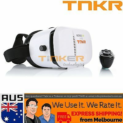 TNKR Bobo Z3 VR Virtual Reality Headset 3D Glasses iPhone Cardboard BT Remote