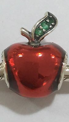 S925 Sterling Silver Snow White Apple Charm + Pandora Polishing Cloth