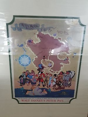 Vintage Disney Peter Pan Lobby Card 1953 New Characters that live Forever