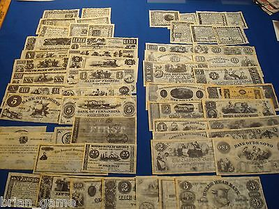 Currency Historical Reproductions Lot, 9 sets 58 Different Notes, Antiqued