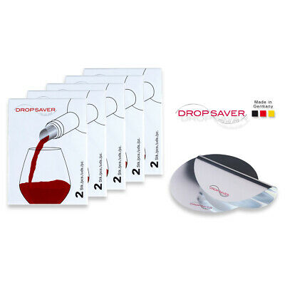 "DROPSAVER ""stop the drop"" (5 x 2er-Packung) - Weinausgießer, Flaschenausgießer"