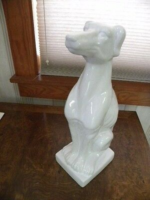 White Greyhound Dog Statue, 13  inches Tall Perfect condtion