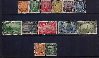 Canada Stamps 1929 Bluenose Sc#149-61 Cpl.Used Set HCV