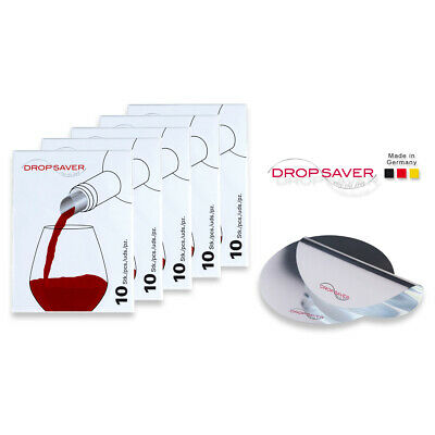 "DROPSAVER ""stop the drop"" (5 x 10er-Packung) - Weinausgießer, Flaschenausgießer"